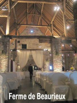mariage de r ve ferme de beaurieux ferme auberges. Black Bedroom Furniture Sets. Home Design Ideas
